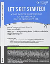 MindTap Computing, 2 terms (12 months) Printed Access Card for Malik's C++ Programming: From Problem Analysis to Program Design, 8th