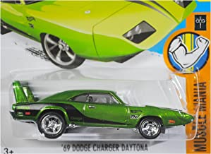 Hot Wheels 2016 Muscle Mania '69 Dodge Charger Daytona Super Treasure Hunt Spectraflame Green 124/250