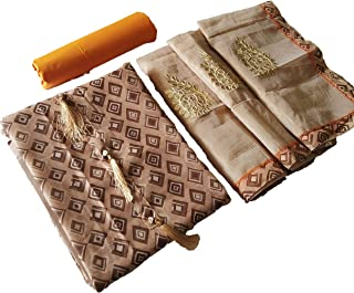 Special Designer Finished khatli Handwork With Moti And Mirror Work Chanderi Cotton Salwar Suit With Heavy Dupatta
