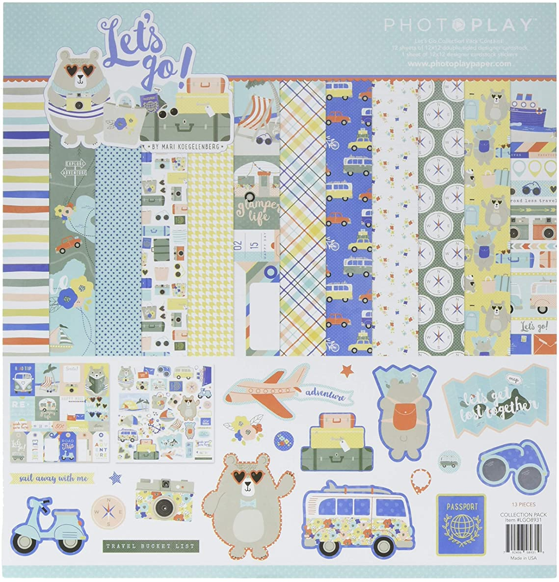 Photoplay Paper LGO8931N Paper Crafts, Multi-Color