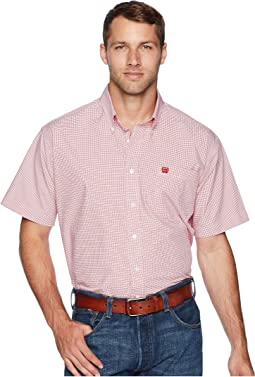 Short Sleeve Plain Weave Plaid