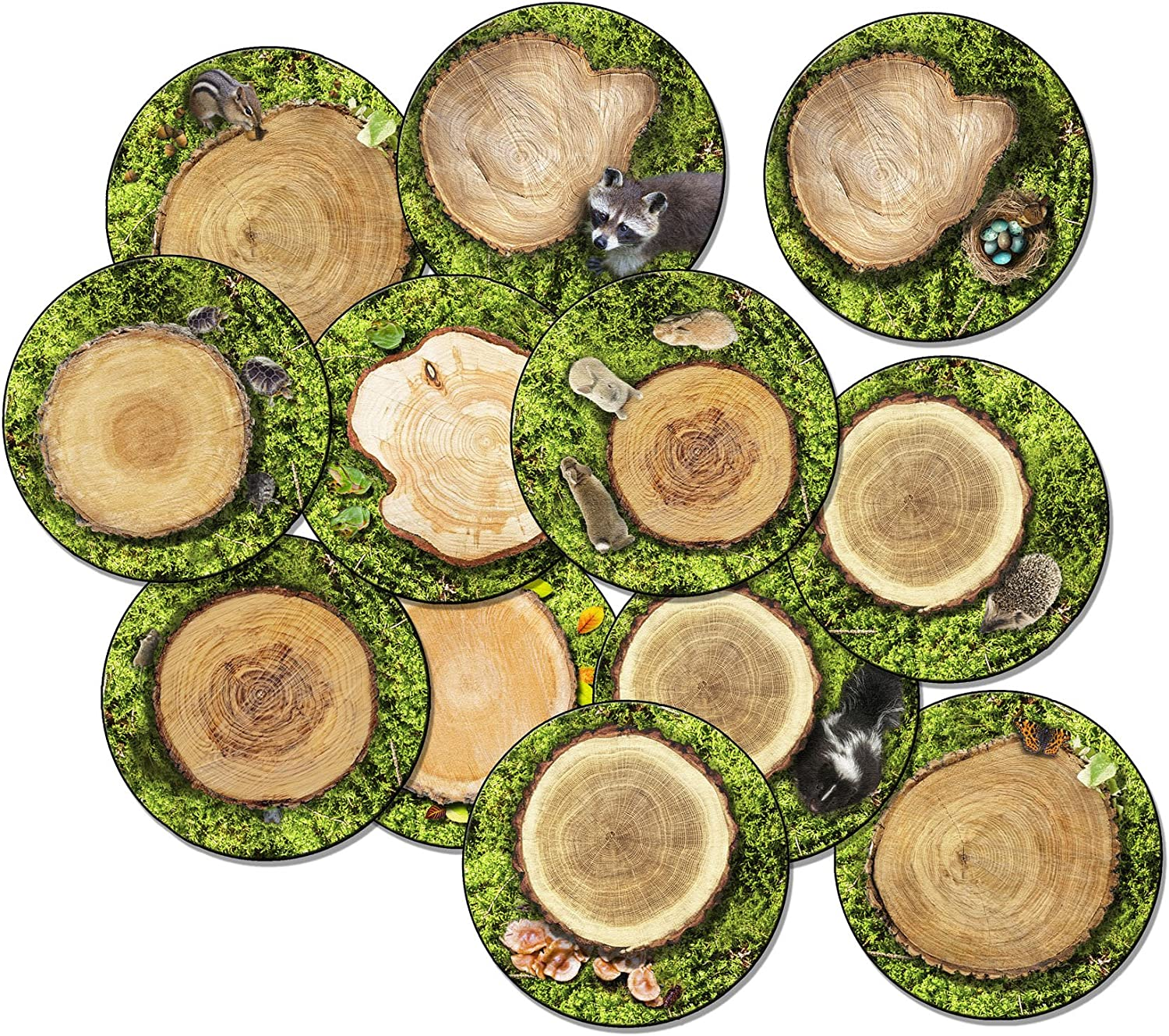 Flagship Carpets FA1005-S12FS Forest Floor Stow-N-Go Set of 12, Multi