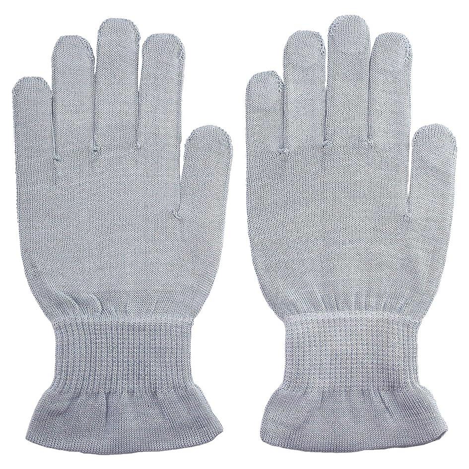 モード財団レインコート温むすび ハンドケア手袋 【手のひら美人 女性用 M~Lサイズ ペールブルー】