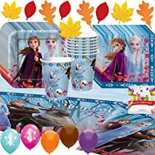 Frozen 2 Party Supplies Birthday Cups, Plates, Napkins, Table Cover, Balloons Decoration Kit Bundle with Birthday Card