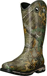 ARIAT Men's Conquest Buckaroo Waterproof Insulated Square Toe Rubber Boot