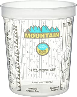 Mountain MTN4202 Disposable Quart Mixing Cup ((100 per case))