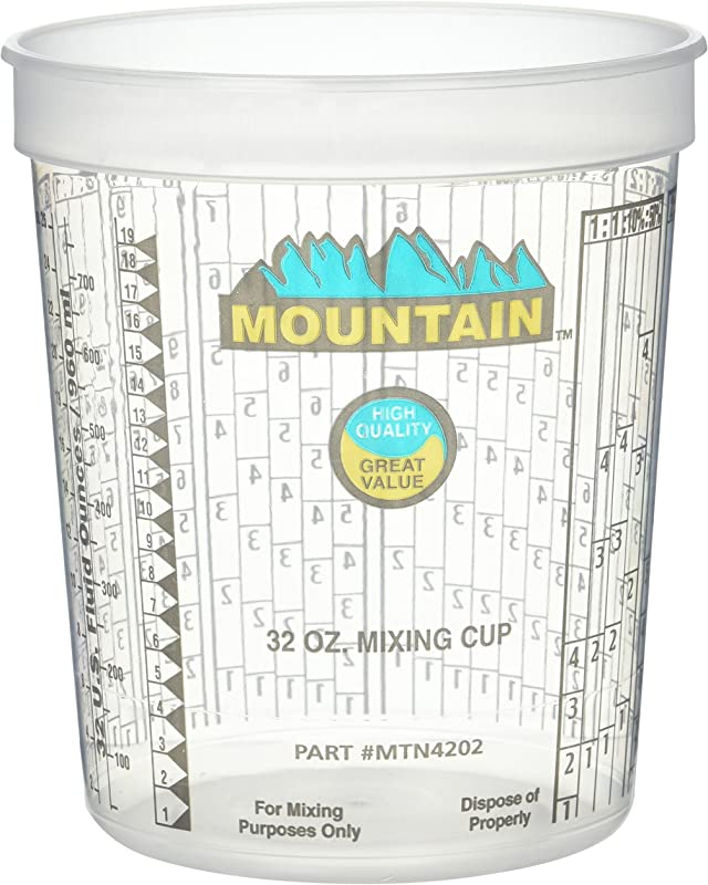 Mountain MTN4202 Disposable Quart Mixing Cup 100 Per Case