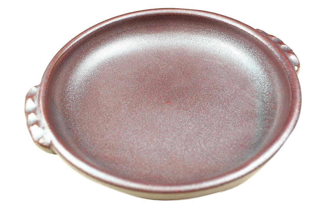 賞賛結核厳密にセイエイ(seiei) 耐熱セラミック フィッシュ陶板 ブラウン 約径21.3×高4.5cm