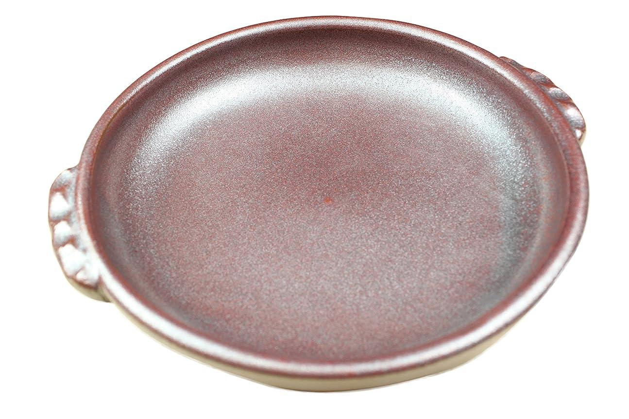 クロール増強ジョージバーナードセイエイ(seiei) 耐熱セラミック フィッシュ陶板 ブラウン 約径21.3×高4.5cm