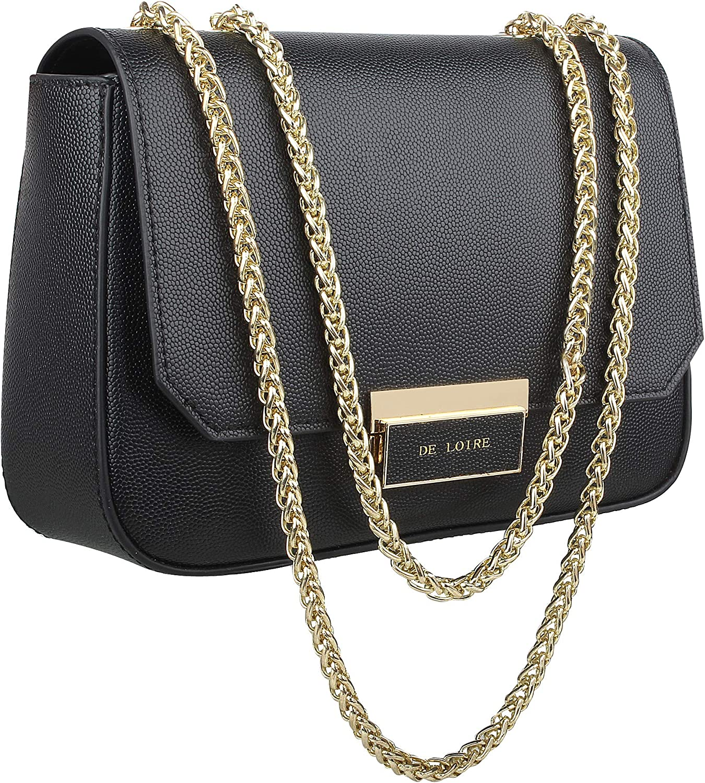 DE LOIRE Women's Evening Handbag 100% Genuine Designer Leather Bag (1yr Warranty)