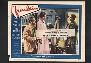 MOVIE POSTER: Fraulein Lobby Card #4-1958-Dana Wynter and Mel Ferrer.