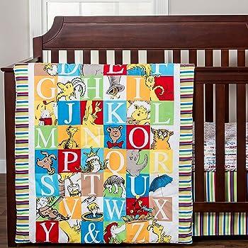 Dr. Seuss Alphabet Seuss ABC Neutral 3 Piece Baby Crib Bedding Set