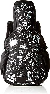 SUCK UK Kids' Guitar Bag Backpack, Black/White, One Size