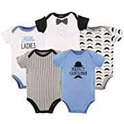 Hudson Baby Unisex Baby Cotton Bodysuits, Perfect Gentlemen, 0-3 Months