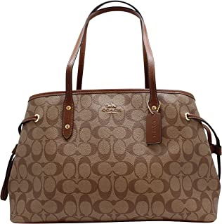 Women's Hand shoulder bag F57842 Khaki /Brown