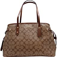 Women's Hand shoulder bag F57842 Khaki /Brown