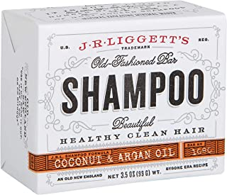 J·R·LIGGETT'S All-Natural Shampoo Bar, Virgin Coconut and Argan Oil - Support Strong and Healthy Hair - Nourish Follicles ...