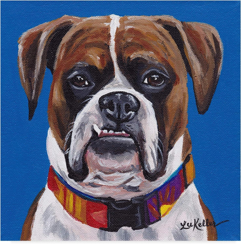 Trademark Fine Art Boxer bluee by Hippie Hound Studios, 14x14