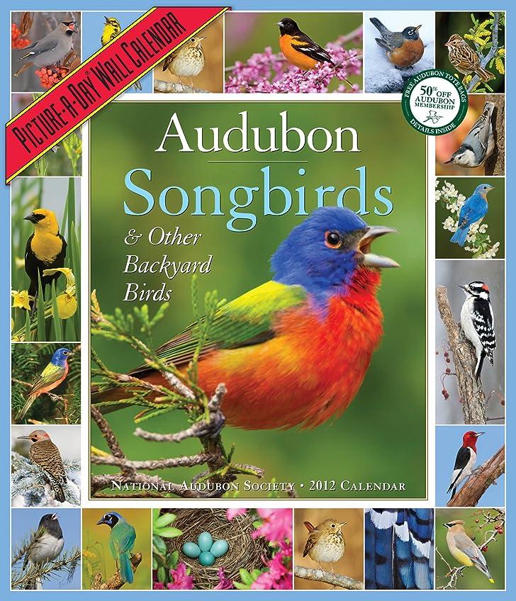 証明比喩スティックAudubon Songbirds & Other Backyard Birds 2012 Calendar (Picture-A-Day Wall Calendars)