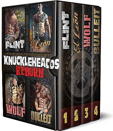 The Knuckleheads: REBORN 4-Book MC Motorcycle Club Romance Bundle: Flint / El León / Wolf / Bulleit (English Edition)