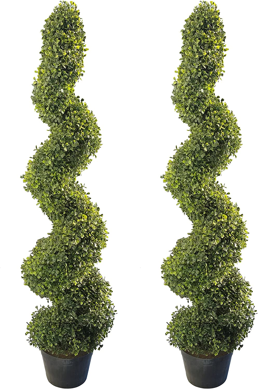 4'Artificial Topiary Spiral Boxwood Mail order cheap Trees by Northwoo Set of Cheap mail order sales 2