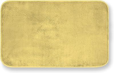 Gemitex Merino Rug 50 x 80 Blue Ultra Absorbent, Polyester, Yellow