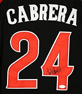 Miguel Cabrera Detroit Tigers Signed Autographed 2015 All Star Jersey #24 Jersey JSA LOA COA