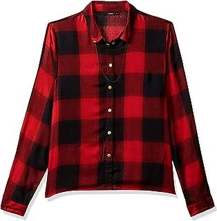 ONLY Women's Checkered Regular Fit Shirt