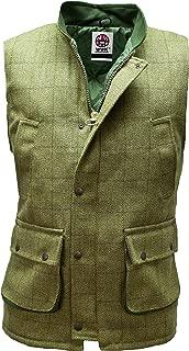 WWK Mens Tweed Bodywarmer Gilet Hunting Shooting Vest