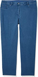 Ruby Rd. Women's Plus Size Fly Front Knitted Indigo Twill Pant