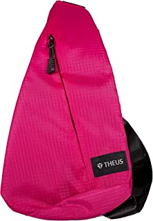 Theus Small Light Outdoor Sling Bag Anti Theft Water Resistant (Pink)