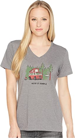 Life is Good Keep It Simple Camper Cool Vee Tee