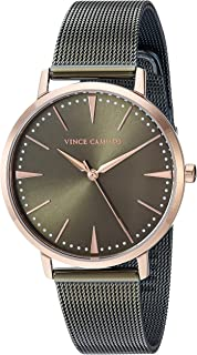 Vince Camuto Women's VC/5345RGOL Rose Gold-Tone and Olive Green Mesh Bracelet Watch