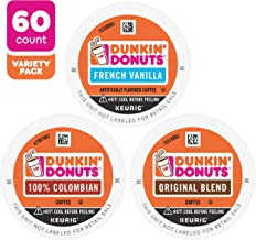 Dunkin' K-Cup Coffee Pods for Keurig Coffee Makers, Best Sellers Variety Pack, 60-Count