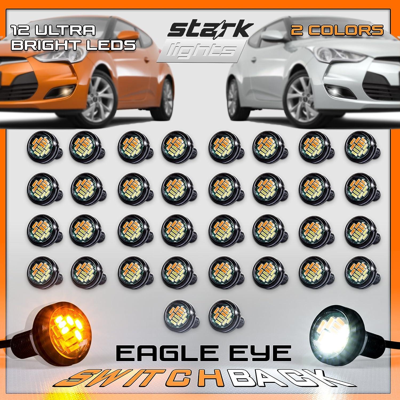 Stark Industries 23mm Eagle Soldering Eye Switchback Bulb LED Amber Las Vegas Mall White
