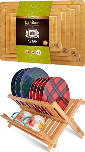 2021 Cutting Board Set of sale 5 and Dish outlet online sale Rack online