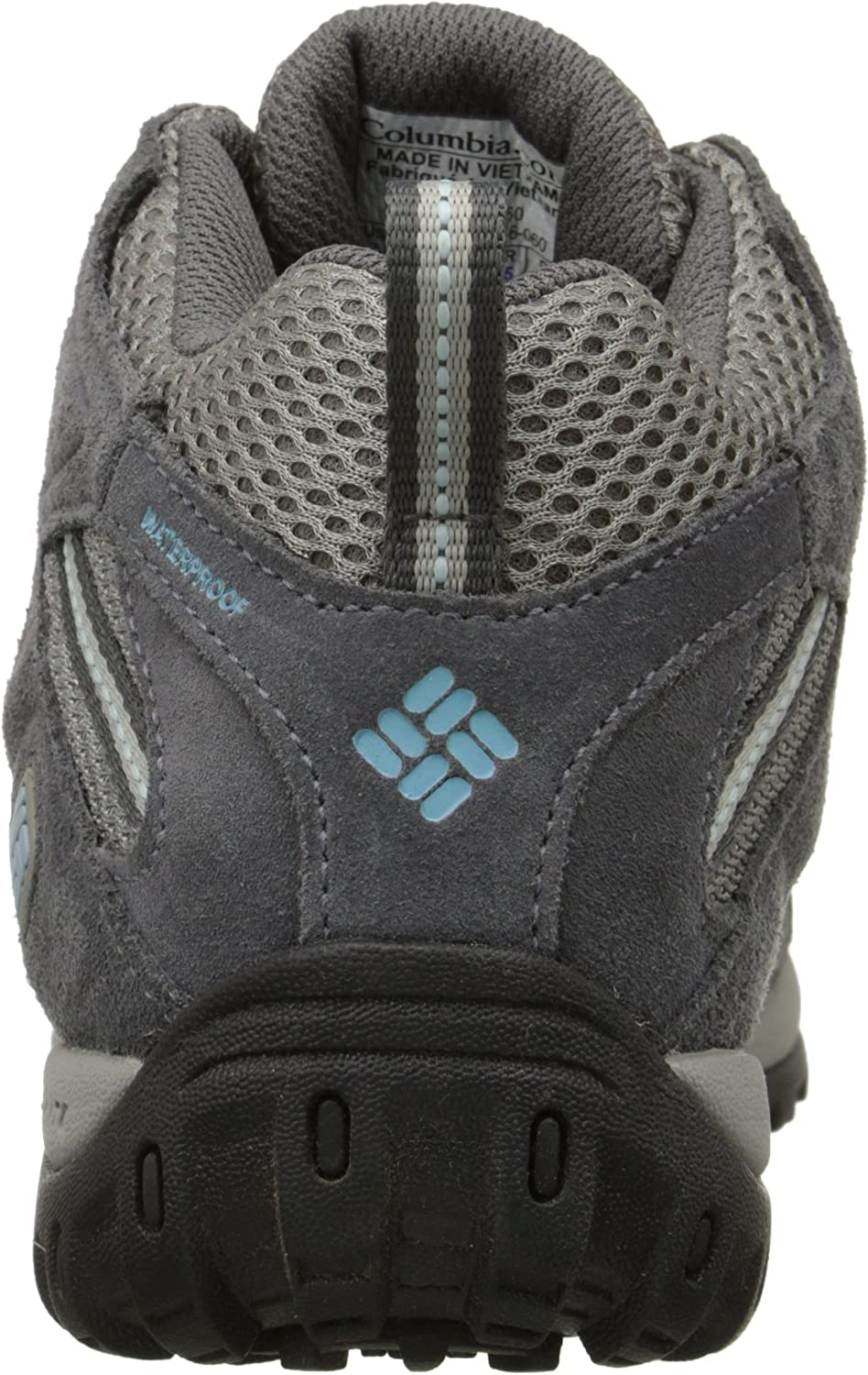 Columbia Women's Redmond Mid Waterproof Hiking Boot, Breathable, High-Traction Grip