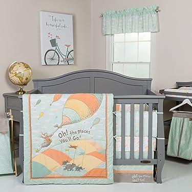Trend Lab Dr. Seuss Oh, The Places You'll Go! Unisex 5Piece Crib Bedding Set