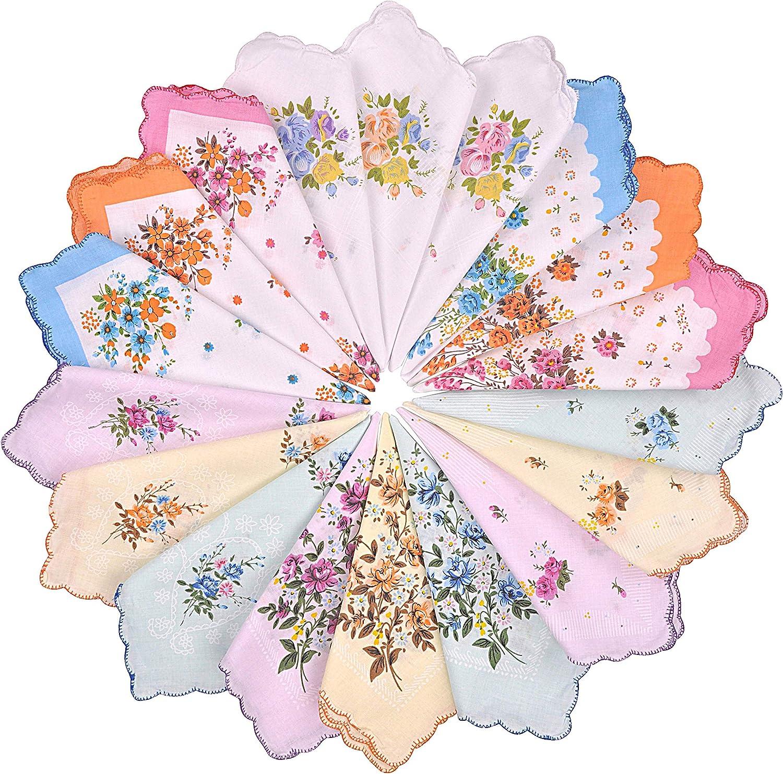 vintage handkerchiefs women/'s handkerchiefs floral handkerchiefs vintage hankies