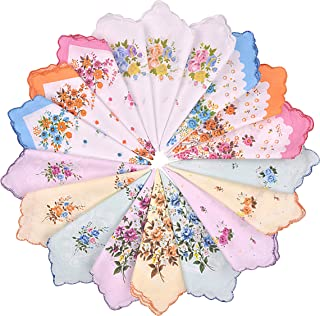 Women's Handkerchiefs Vintage Floral Cotton