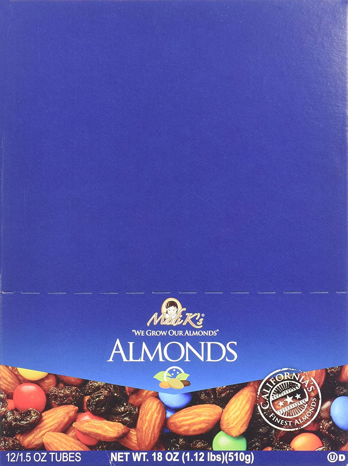 Max 56% OFF Madi K's Roasted Salted Blend online shop 1.5-Ounce of Almonds Pack Tubes