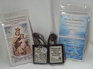 Unbreakable Brown Scapular of Our Lady of Mount Carmel Handmade and Durable 20
