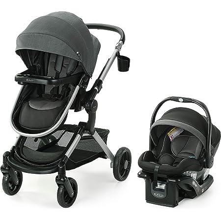 Graco Modes Nest Travel System | Includes Baby Stroller with Height Adjustable Reversible Seat, Bassinet Mode, Lightweight Aluminum Frame and SnugRide 35 Lite Elite Infant Car Seat, Sullivan