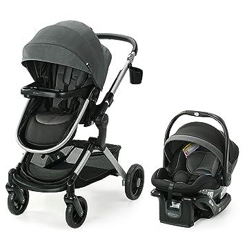 Graco Modes Nest Travel System | Includes Baby Stroller with Height Adjustable Reversible Seat, Bassinet Mode, Lightweight Aluminum Frame and SnugRide 35 Lite Elite Infant Car Seat, Sullivan: image