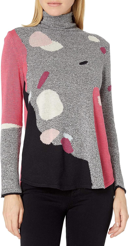 NIC+ZOE Women's Abstract Intarsia Sweater