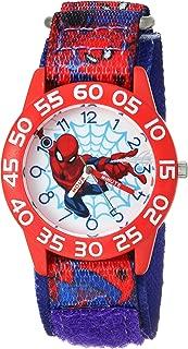 Boys Spider-Man Analog-Quartz Watch with Nylon Strap, Blue, 16 (Model: WMA000190)