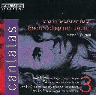 Digital Booklet: Bach, J.S.: Cantatas, Vol. 3 - Bwv 12, 54, 162, 182