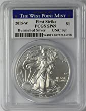 2015-W $1 American Silver Eagle Burnished SP69 UNC Set First Strike PCGS
