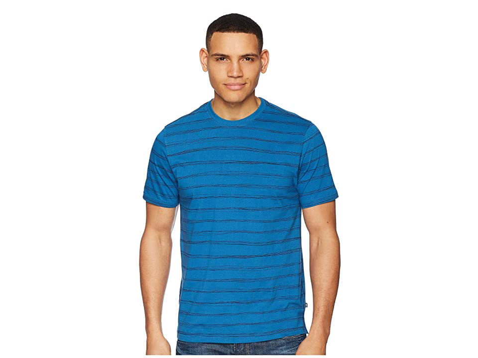 Toad&Co Piers Short Sleeve Tee (Bright Indigo Stripe Print) Men