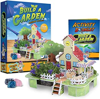Country Cottage Kids Garden Kit – Country Cottage Model and Plant Growing Kit for Kids with Indoor Garden, Includes Flower and Vegetable Seeds, Peat Pellets, Activity Guide, and More